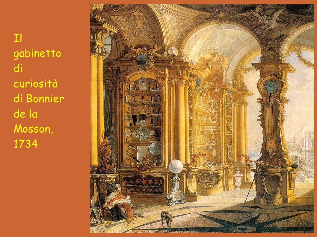 Il gabinetto di curiosità di Bonnier de la Mosson, 1734
