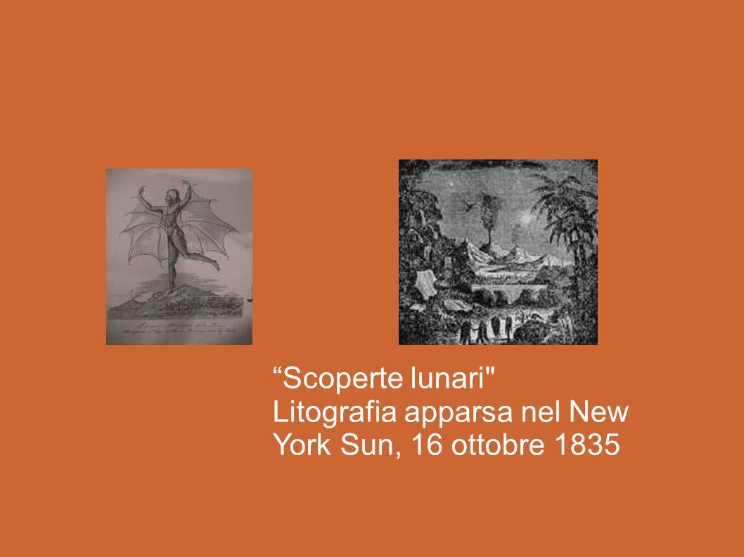 Scoperte lunari Litografia apparsa nel New York Sun, 16 ottobre 1835