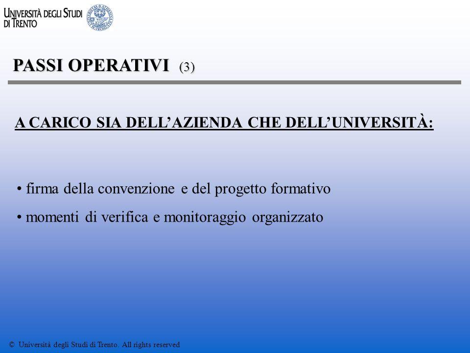 © Università degli Studi di Trento.