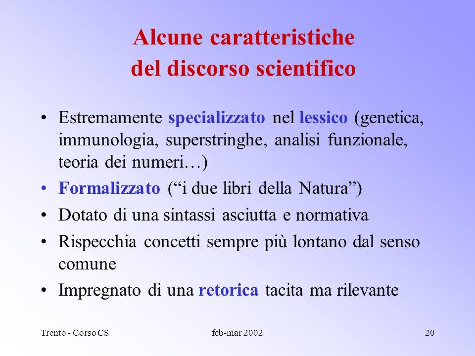 Trento - Corso CSfeb-mar 200219 Comunicazione formale Comunicazione informale ScrittaLetteratura primaria e secondaria Lettere, quaderni di laboratori