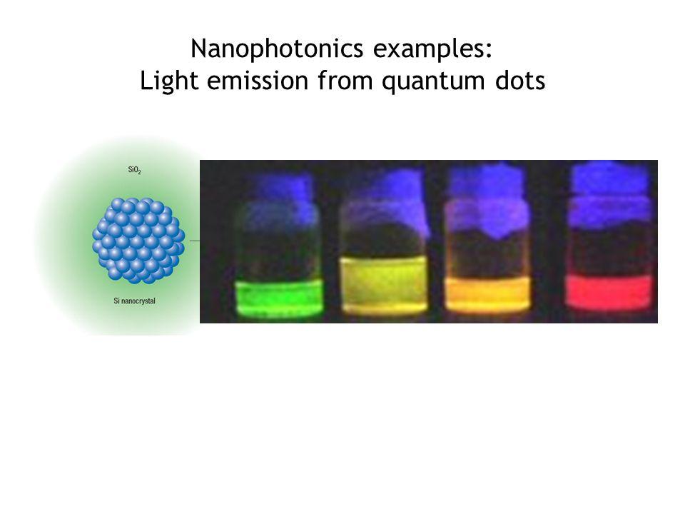 Nanophotonics examples: Light emission from quantum dots