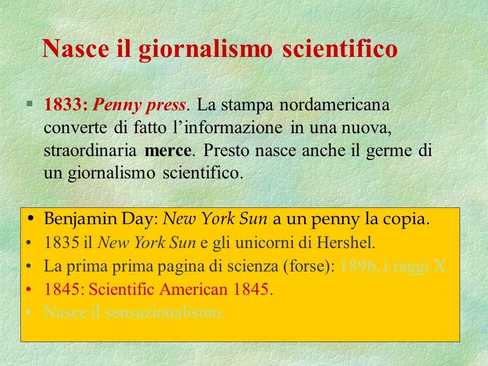 §Nella prima metà del XIX sec., lo scopo è portare alle masse (ma le masse colte e benestanti) la gioia e i benefici morali della conoscenza, rivelare