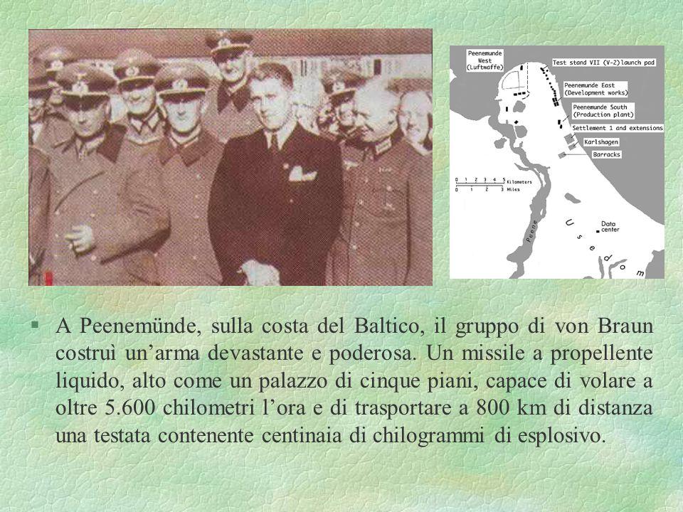 §Matematica a forza... §Un telescopio… e un osservatorio §Ingneria, fisica, razzi §1932: esercito tedesco Il giovane von Braun