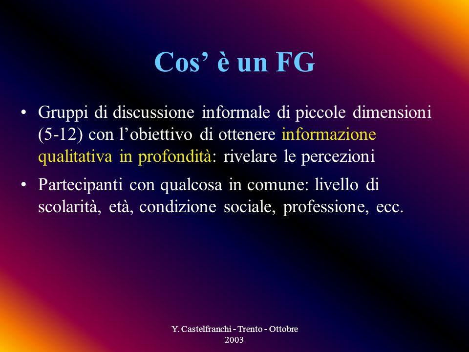 Y. Castelfranchi - Trento - Ottobre 2003 Come domandarlo ai bambini.