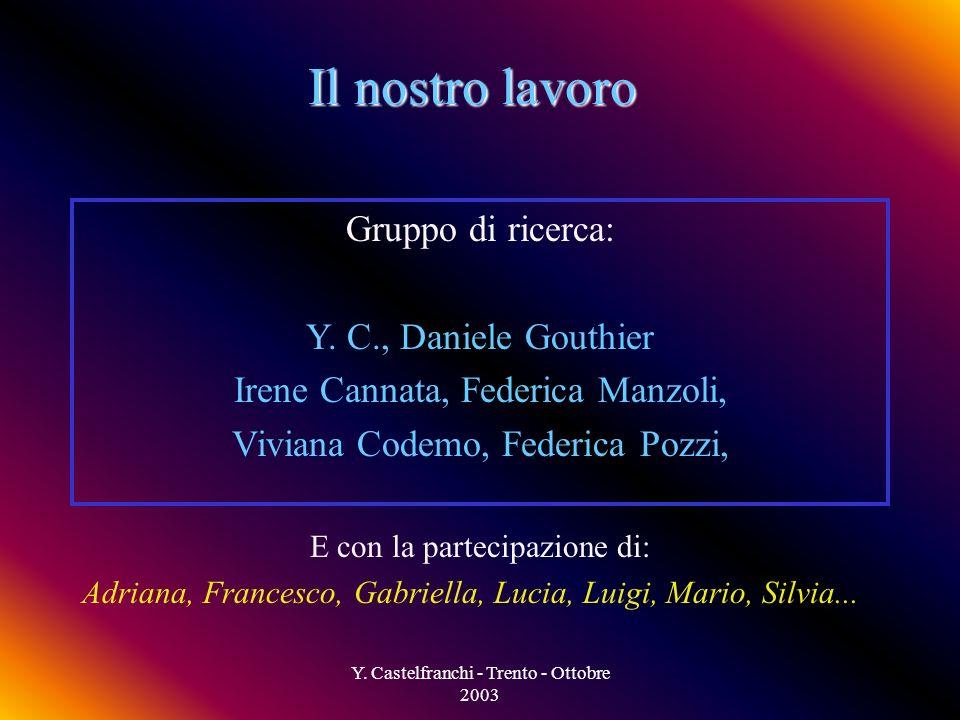 Y. Castelfranchi - Trento - Ottobre 2003 Quando usare i FG Quando il è piuttosto omogeneo Quando esiste la possibilità logística di riunire le persone