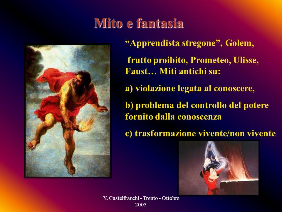 Y. Castelfranchi - Trento - Ottobre 2003 Come è successo tuto ciò.