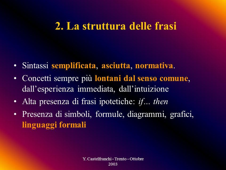 Y. Castelfranchi - Trento - Ottobre 2003 1.