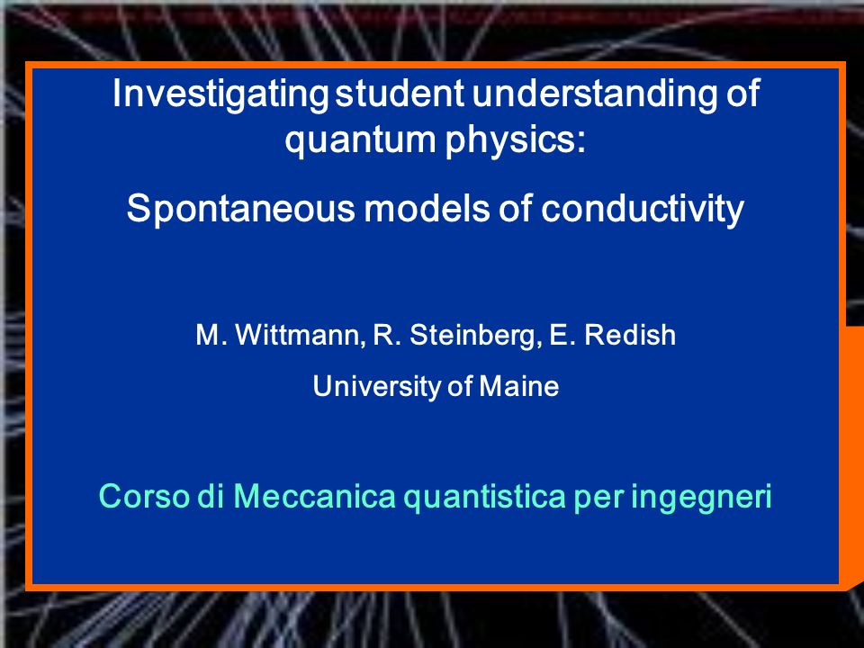 Investigating student understanding of quantum physics: Spontaneous models of conductivity M.