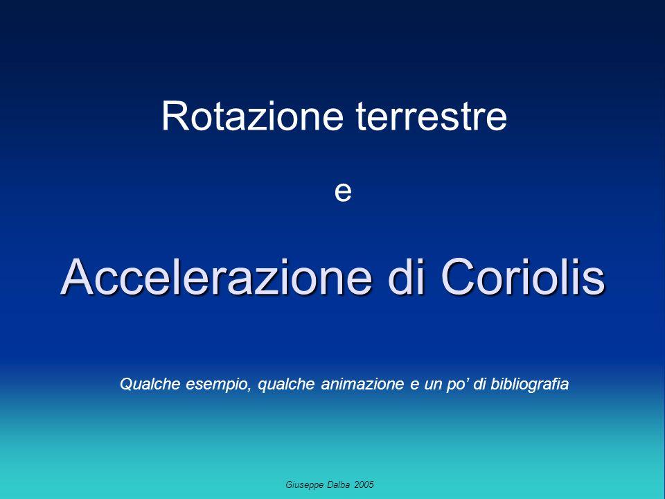 Giuseppe Dalba 2005 Accelerazione di Coriolis Rotazione terrestre e Qualche esempio, qualche animazione e un po di bibliografia
