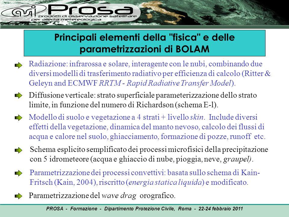 OUTPUT PROSA - Formazione - Dipartimento Protezione Civile, Roma - 22-24 febbraio 2011 Principali elementi della
