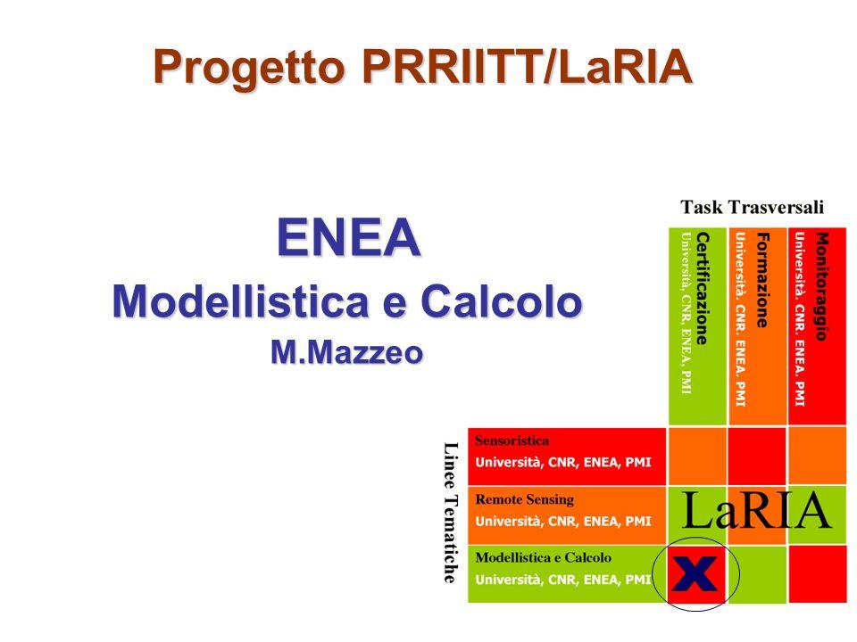 Progetto PRRIITT/LaRIA ENEA Modellistica e Calcolo M.Mazzeo