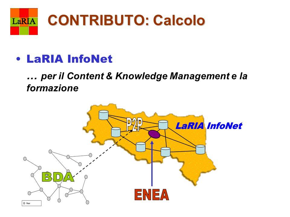 CONTRIBUTO: Calcolo LaRIA InfoNet … per il Content & Knowledge Management e la formazione