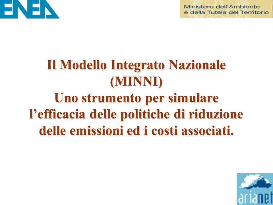 Il Modello Integrato Nazionale (MINNI) Uno strumento per simulare lefficacia delle politiche di riduzione delle emissioni ed i costi associati.