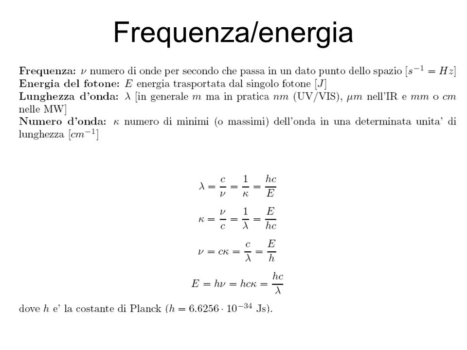 Frequenza/energia
