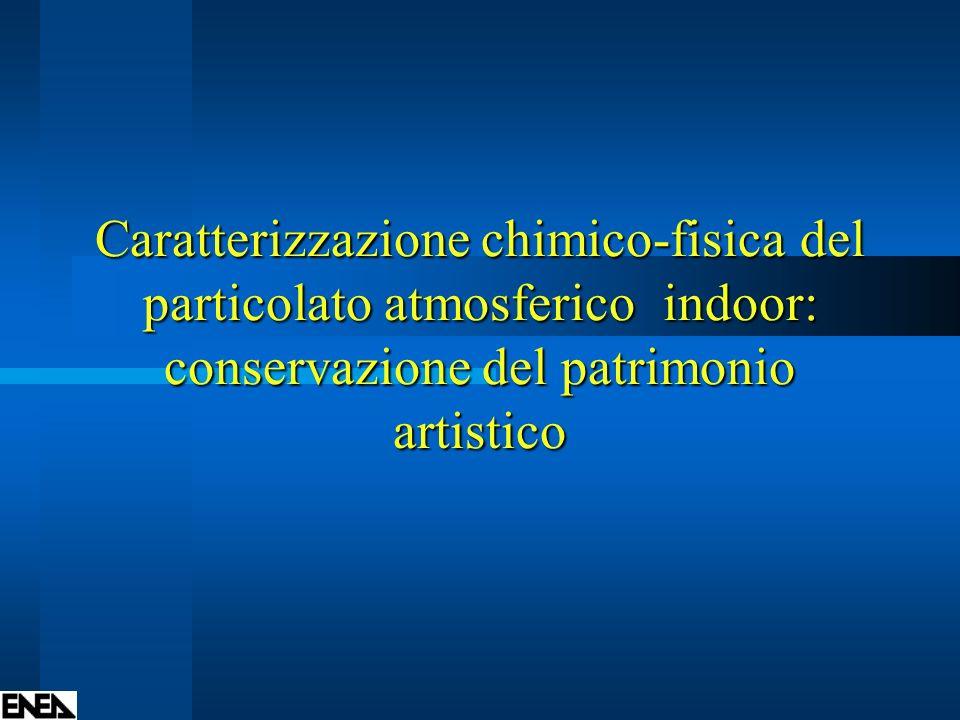 Caratterizzazione chimico-fisica del particolato atmosferico indoor: conservazione del patrimonio artistico