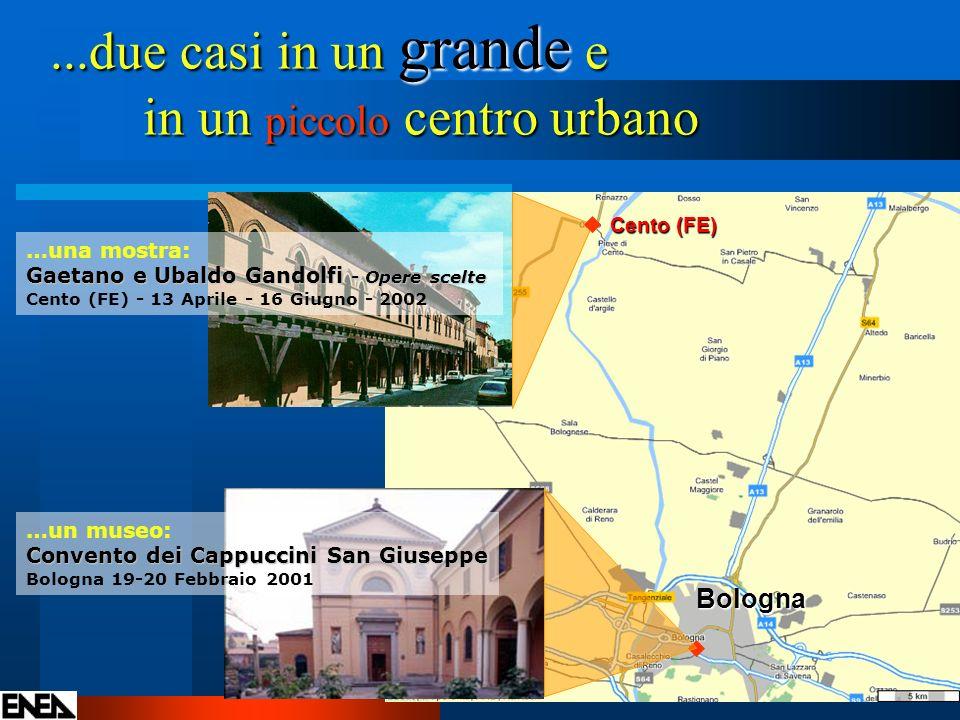 ...due casi in un grande e in un piccolo centro urbano Bologna Cento (FE) …una mostra: Gaetano e Ubaldo Gandolfi - Opere scelte Cento (FE) - 13 Aprile