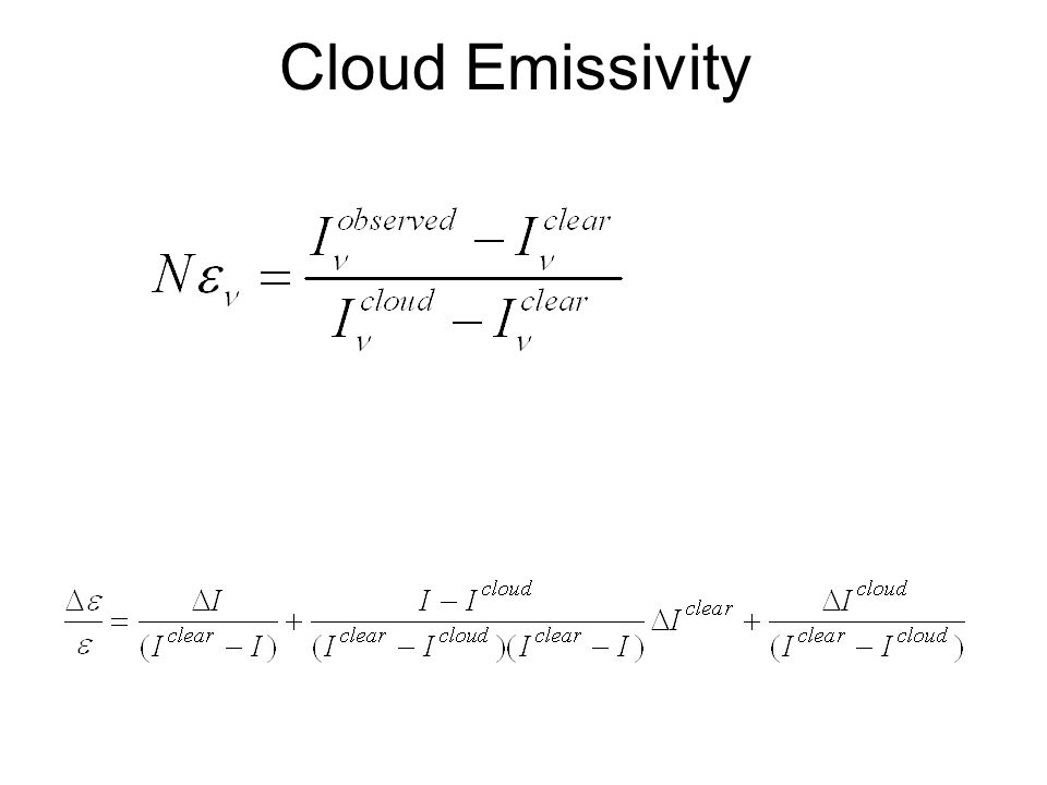 Cloud Emissivity