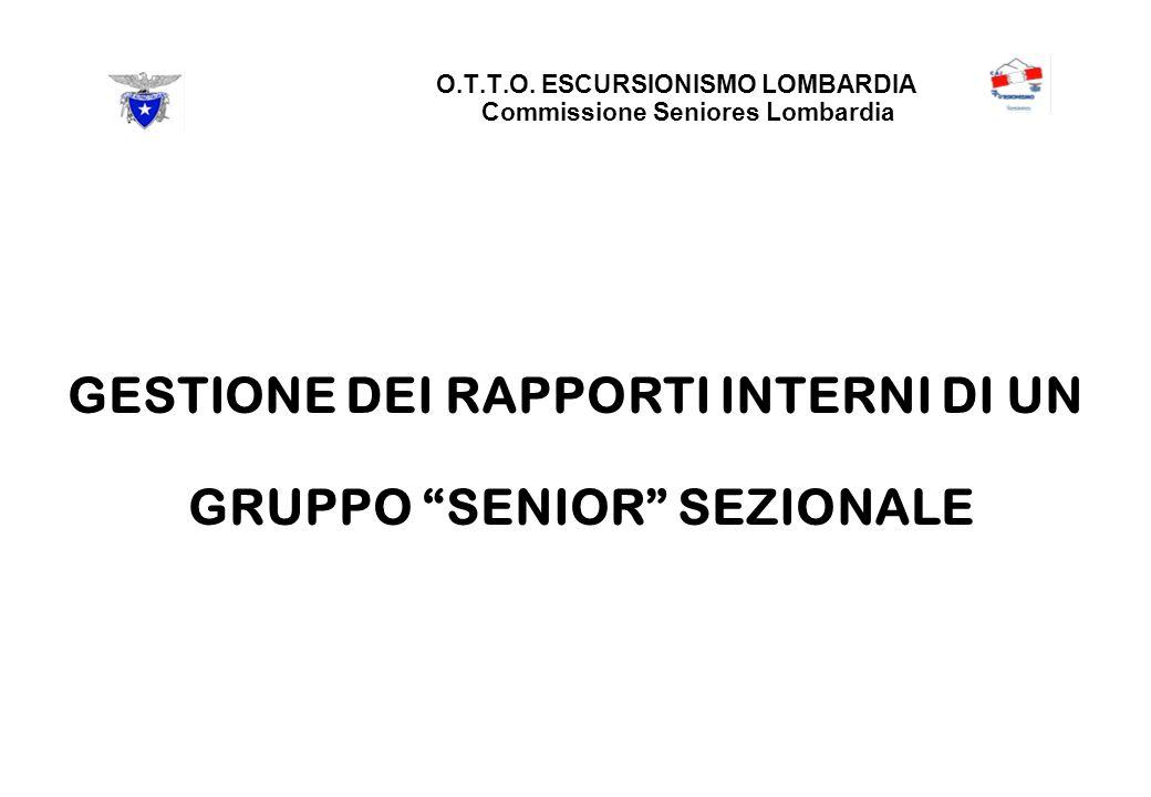 GESTIONE DEI RAPPORTI INTERNI DI UN GRUPPO SENIOR SEZIONALE