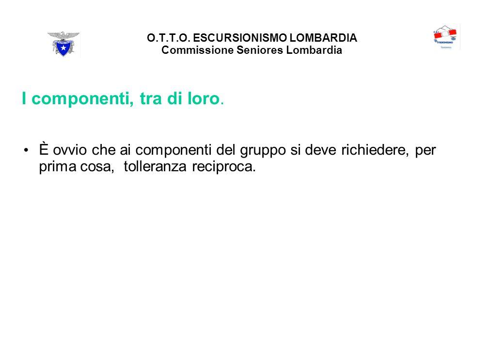 O.T.T.O. ESCURSIONISMO LOMBARDIA Commissione Seniores Lombardia I componenti, tra di loro.