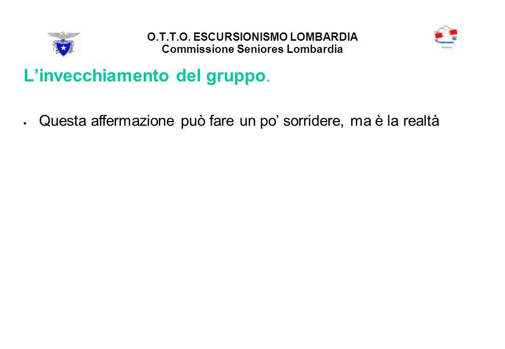 O.T.T.O. ESCURSIONISMO LOMBARDIA Commissione Seniores Lombardia Linvecchiamento del gruppo.