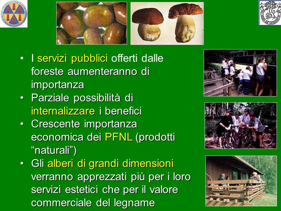 servizi pubblici oreste aumenteranno di importanzaI servizi pubblici offerti dalle foreste aumenteranno di importanza Parziale possibilità di internal