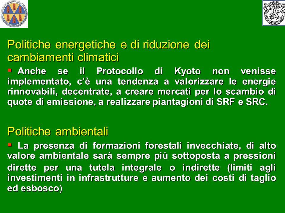Politiche energetiche e di riduzione dei cambiamenti climatici Anche se il Protocollo di Kyoto non venisse implementato, cè una tendenza a valorizzare