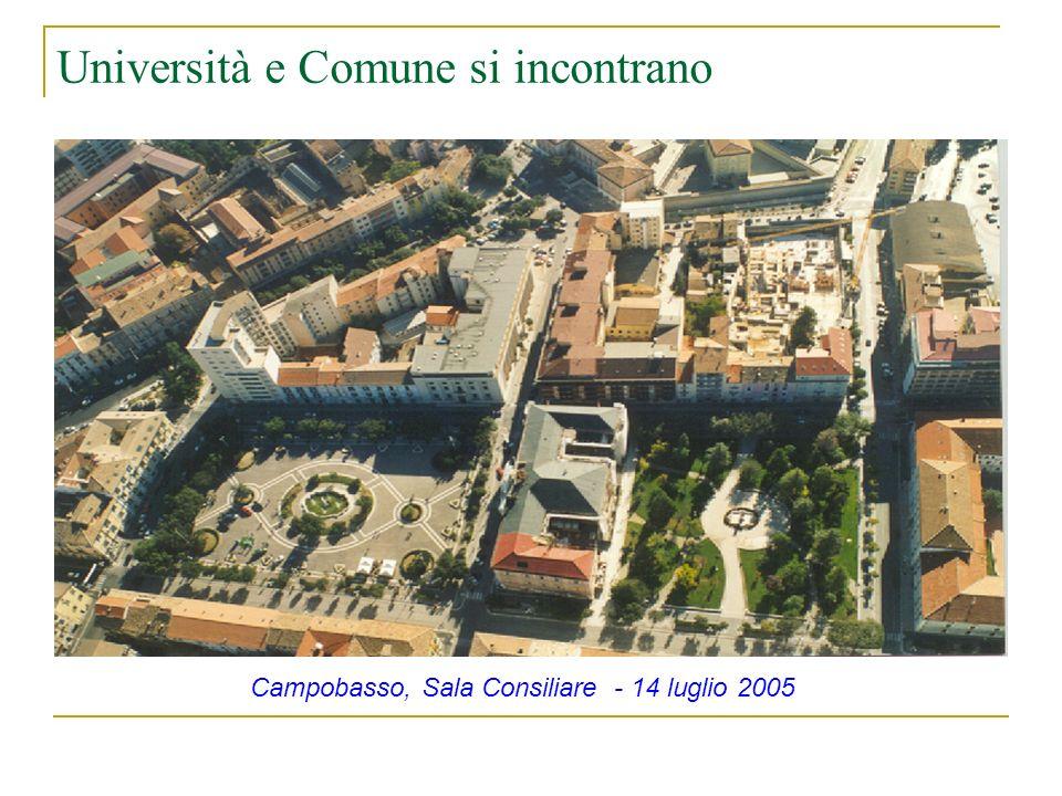 Università e Comune si incontrano Campobasso, Sala Consiliare - 14 luglio 2005