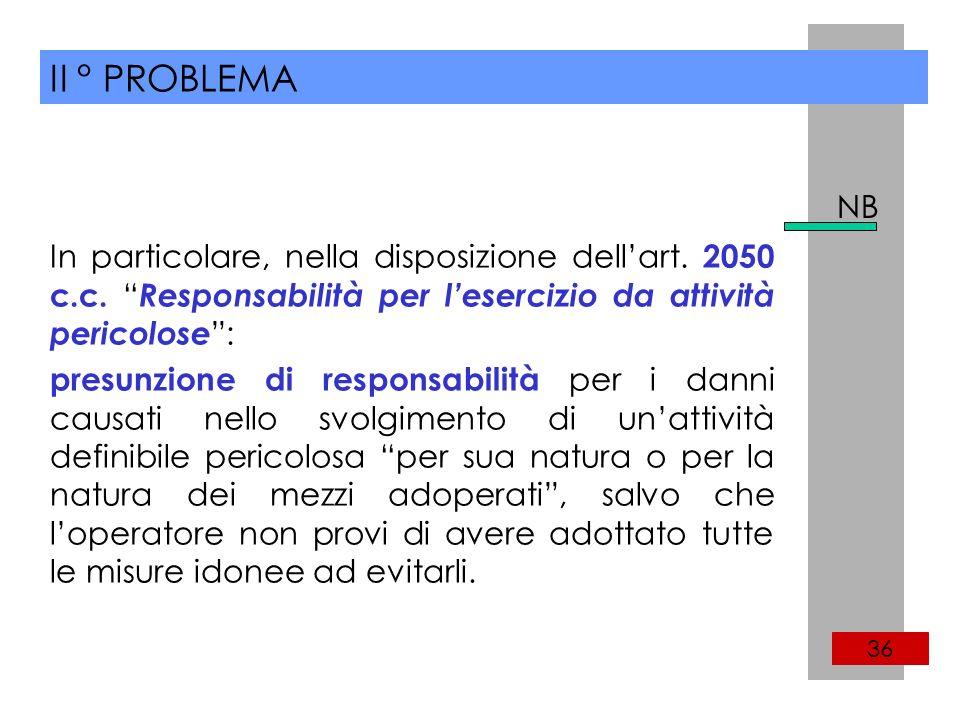 II ° PROBLEMA 36 In particolare, nella disposizione dellart.