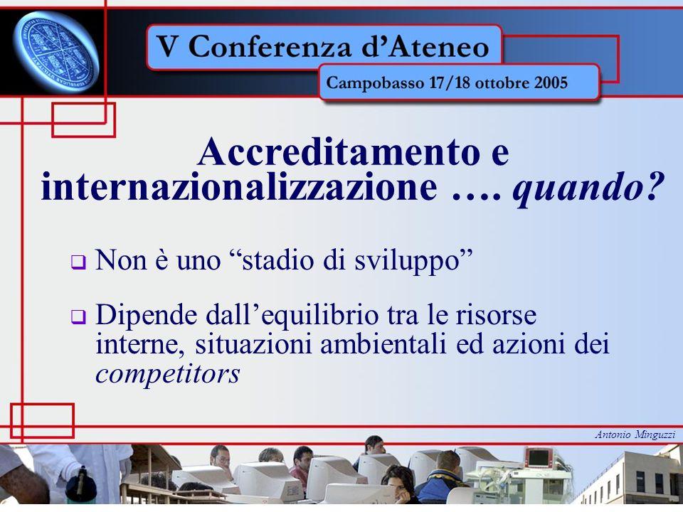 Accreditamento e internazionalizzazione …. quando.