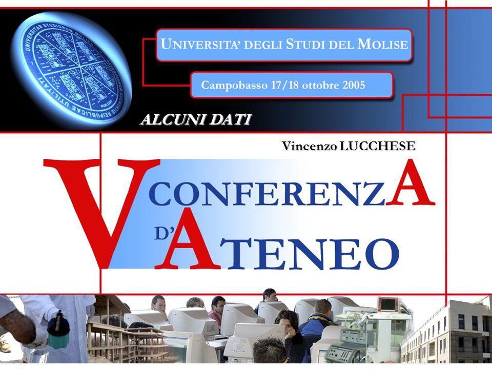 ALCUNI DATI ALCUNI DATI Vincenzo LUCCHESE