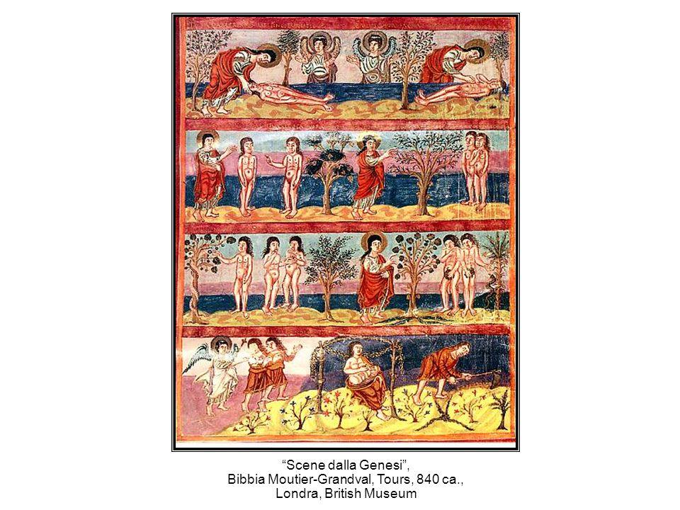 Scene dalla Genesi, Bibbia Moutier-Grandval, Tours, 840 ca., Londra, British Museum
