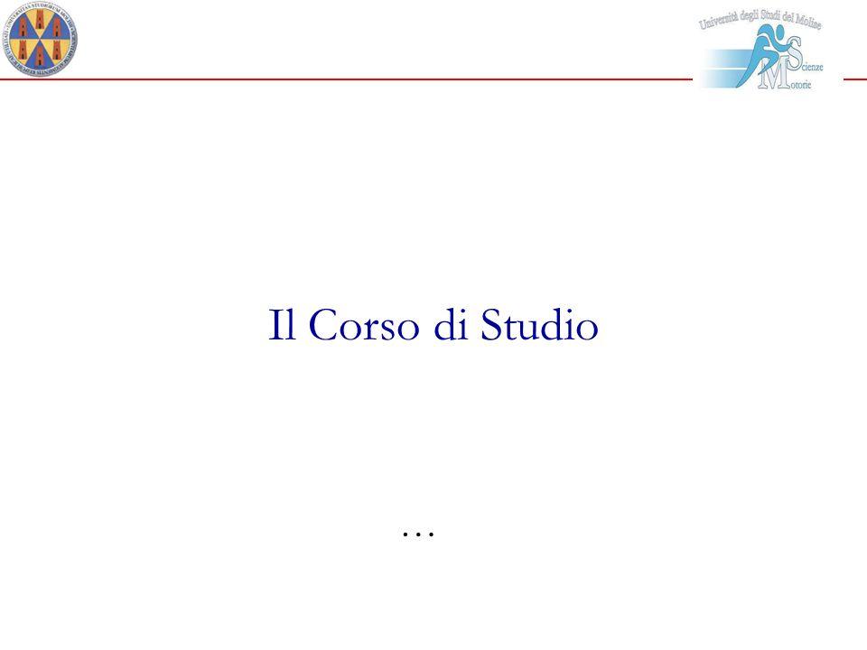Il Corso di Studio …