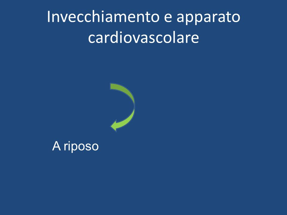Invecchiamento e apparato cardiovascolare A riposo