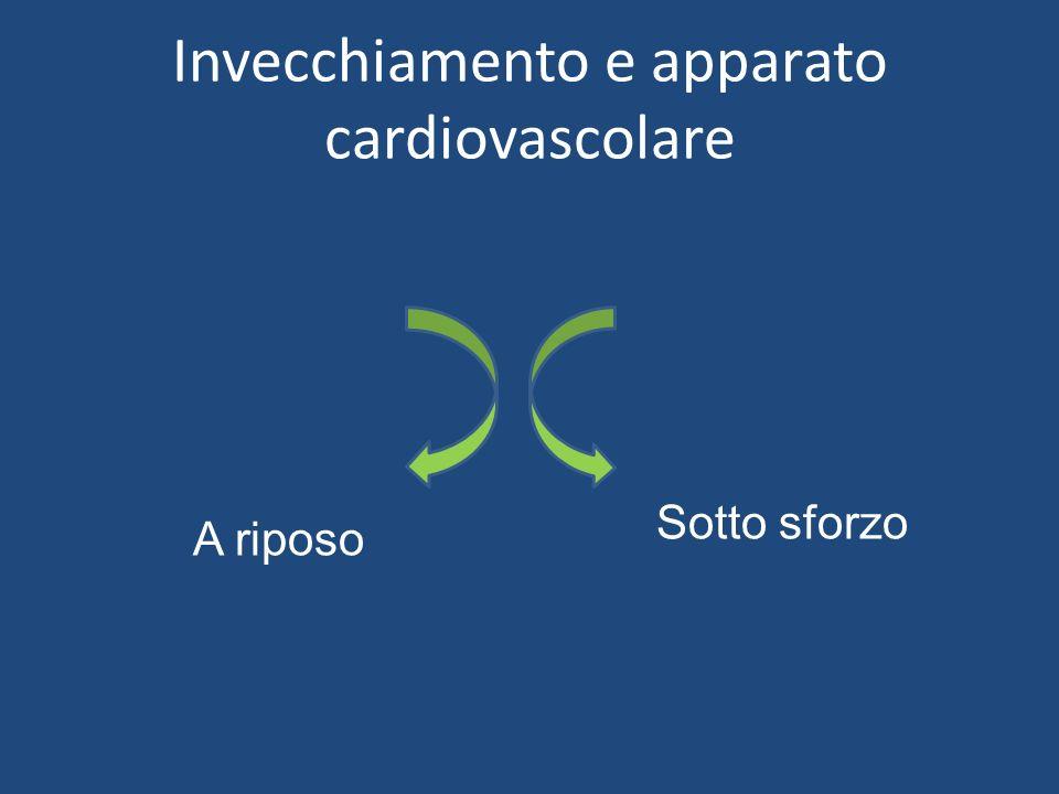 Invecchiamento e apparato cardiovascolare A riposo Sotto sforzo