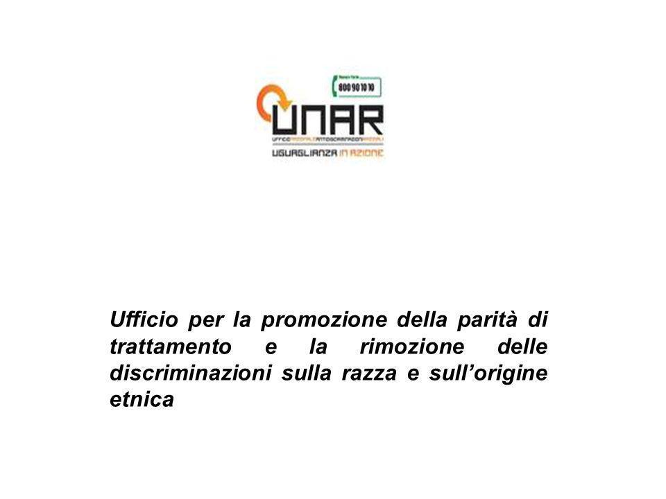 Ufficio per la promozione della parità di trattamento e la rimozione delle discriminazioni sulla razza e sullorigine etnica