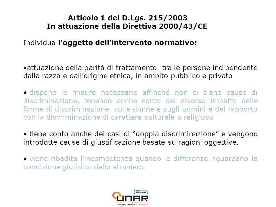 Articolo 1 del D.Lgs.