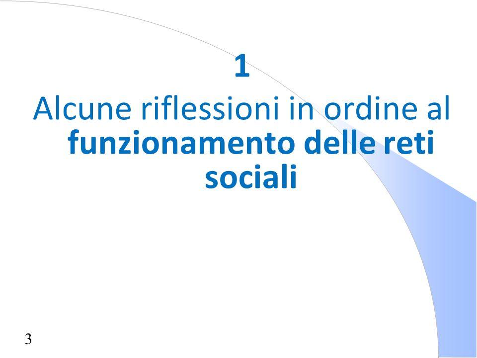 3 1 Alcune riflessioni in ordine al funzionamento delle reti sociali
