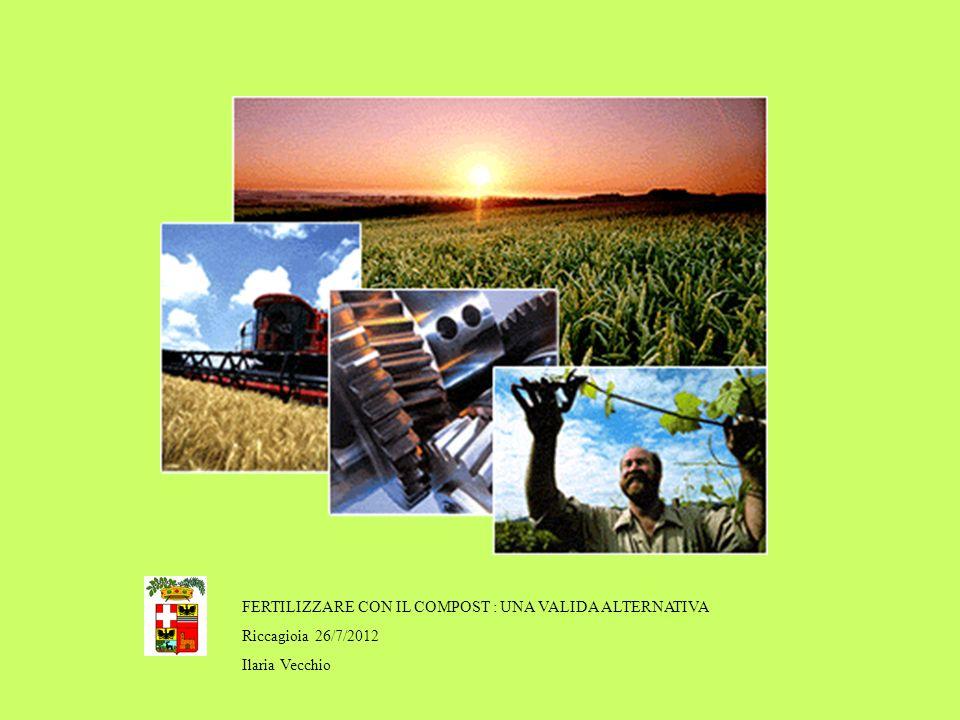 FERTILIZZARE CON IL COMPOST : UNA VALIDA ALTERNATIVA Riccagioia 26/7/2012 Ilaria Vecchio Ilaria Vecchio – U.O.