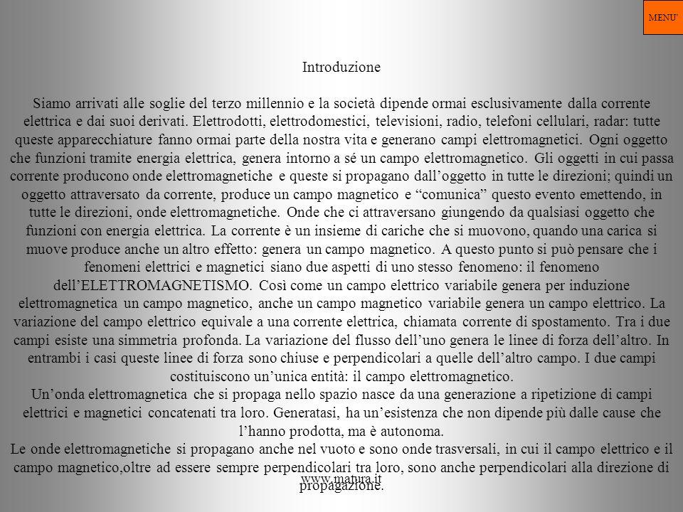 www.matura.it Introduzione Siamo arrivati alle soglie del terzo millennio e la società dipende ormai esclusivamente dalla corrente elettrica e dai suo