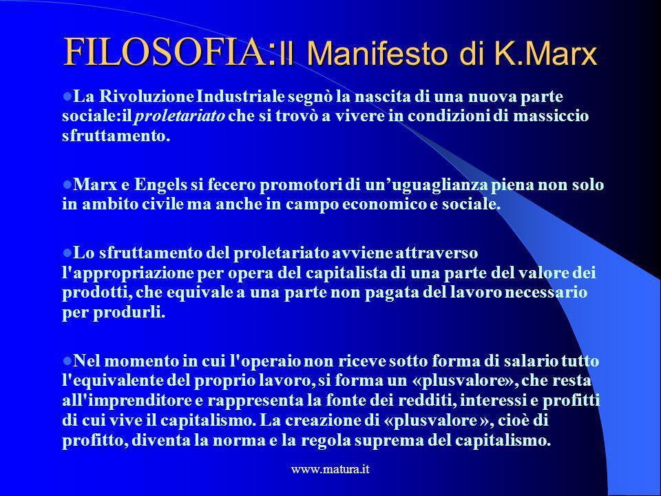 www.matura.it STORIA : La Rivoluzione Industriale Una delle prime stazioni ferroviarie