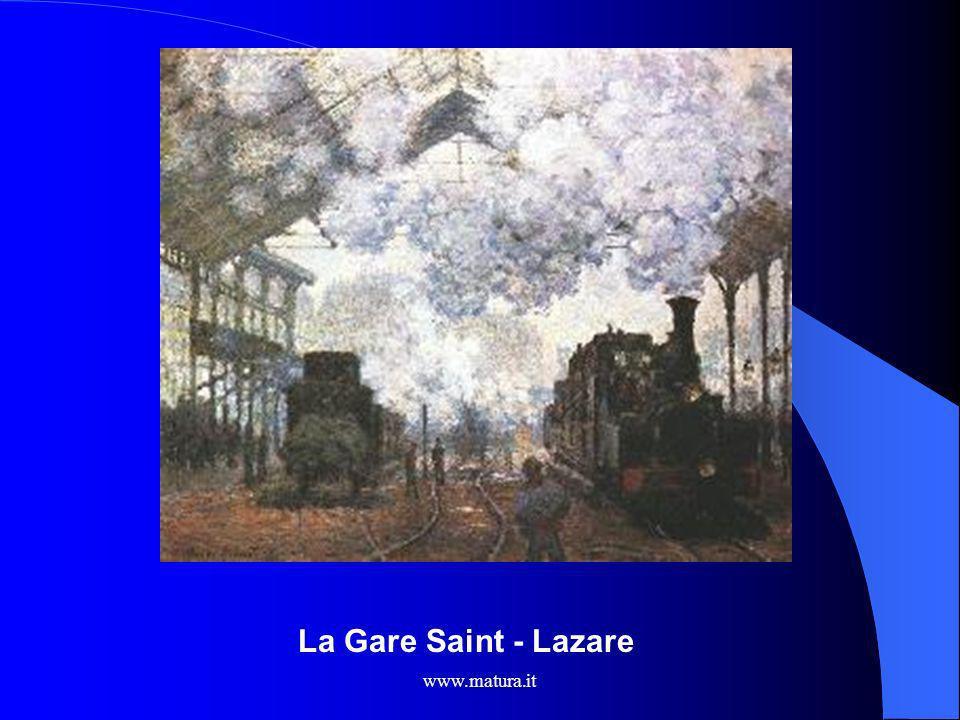 www.matura.it ARTE: Raffigurazione del treno in Monet Treno nella neve