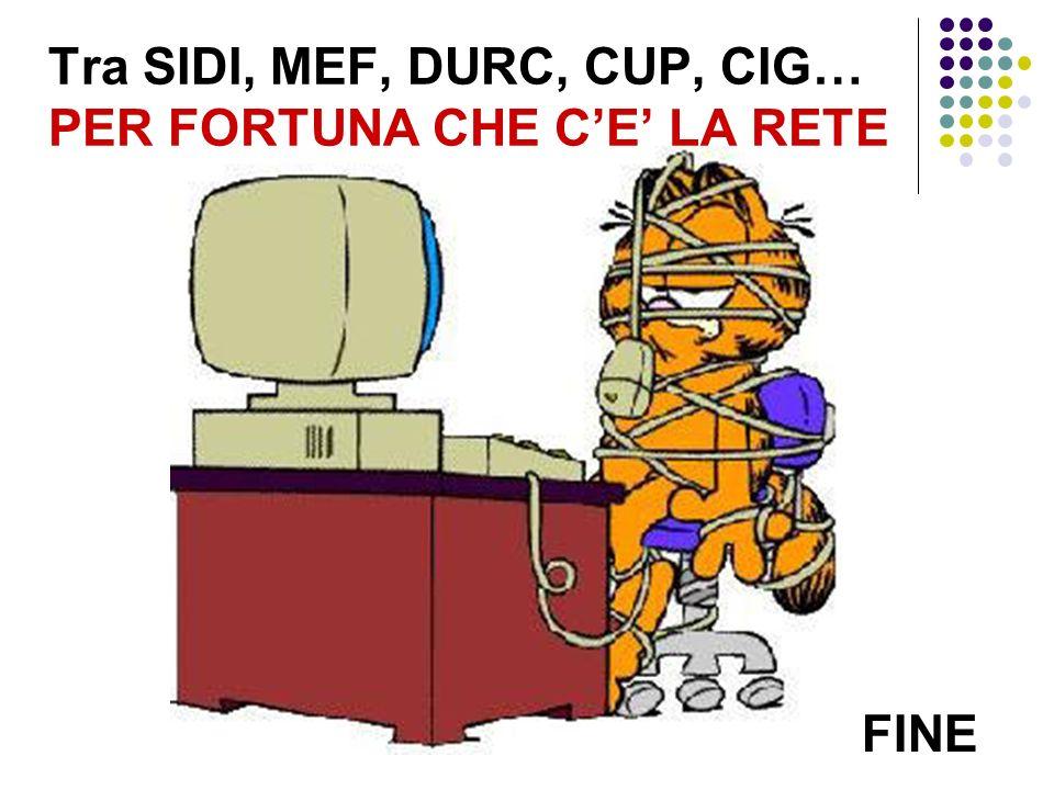 Tra SIDI, MEF, DURC, CUP, CIG… PER FORTUNA CHE CE LA RETE FINE