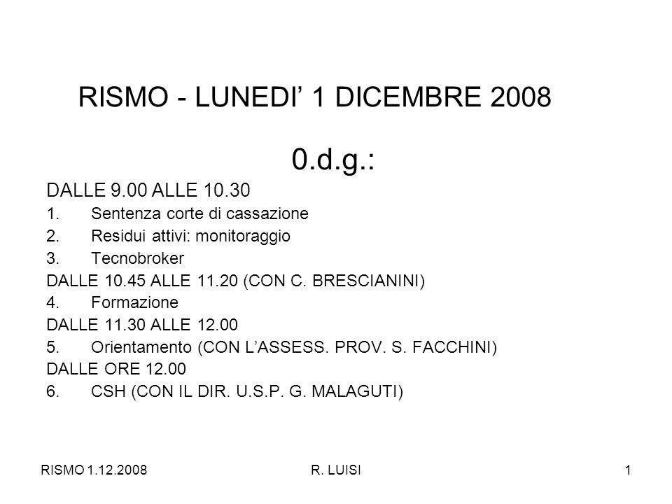 RISMO 1.12.2008R.LUISI12 4. FORMAZIONE - SCHEDA 3 B.A CARICO U.S.P.