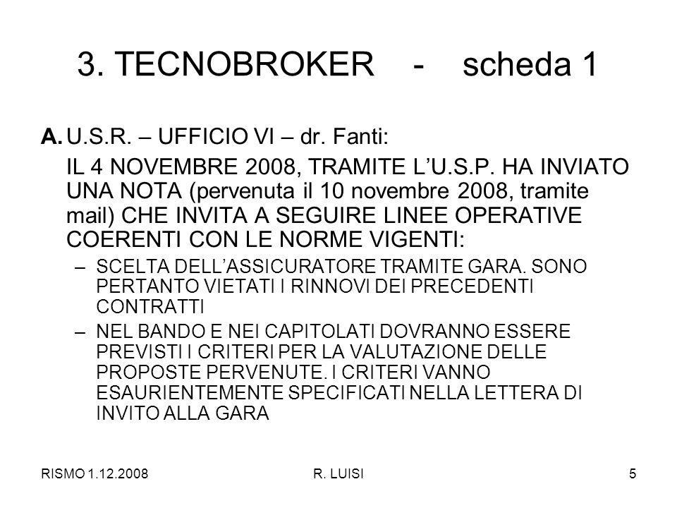 RISMO 1.12.2008R.LUISI16 6. C.S.H. INTERESSA SCUOLA PRIMARIA E SEC.