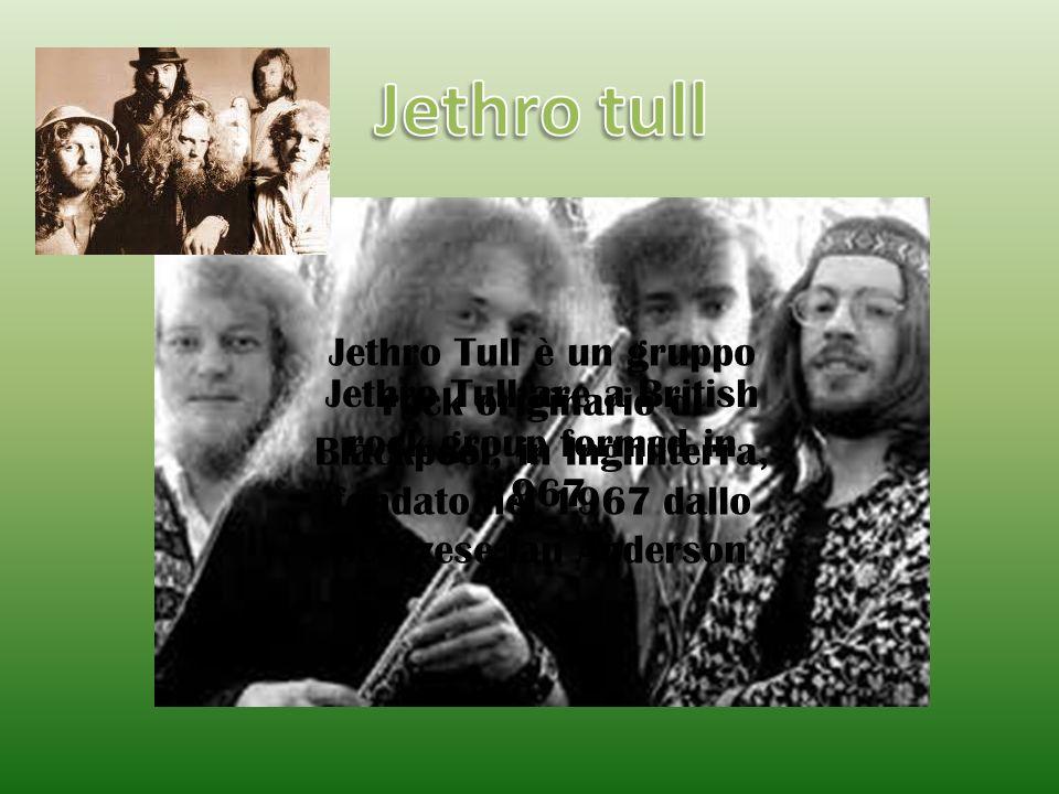 Jethro Tull è un gruppo rock originario di Blackpool, in Inghilterra, fondato nel 1967 dallo scozzese Ian Anderson Jethro Tull are a British rock grou