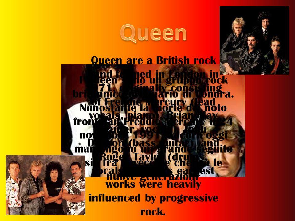 I Queen sono un gruppo rock britannico originario di Londra. Nonostante la morte del noto frontman Freddie Mercury il 24 novembre 1991, ancora oggi ma