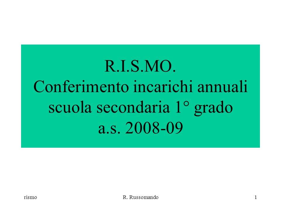 rismoR.Russomando1 R.I.S.MO. Conferimento incarichi annuali scuola secondaria 1° grado a.s.