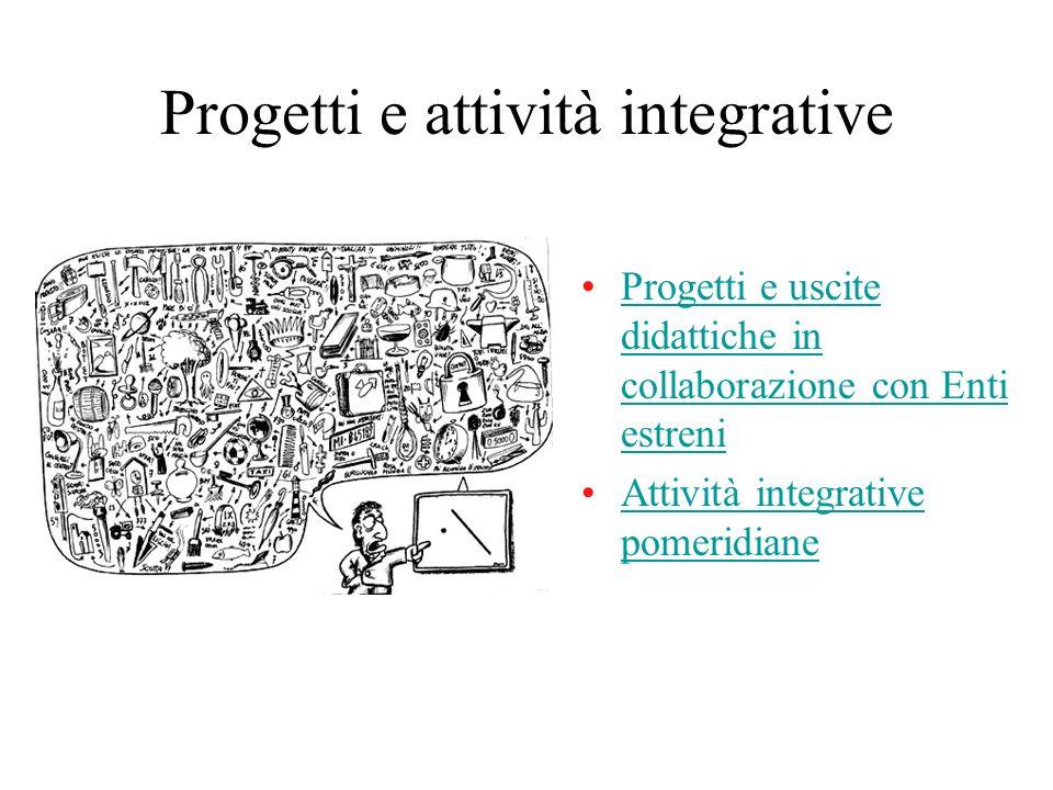 Progetti e attività integrative Progetti e uscite didattiche in collaborazione con Enti estreniProgetti e uscite didattiche in collaborazione con Enti