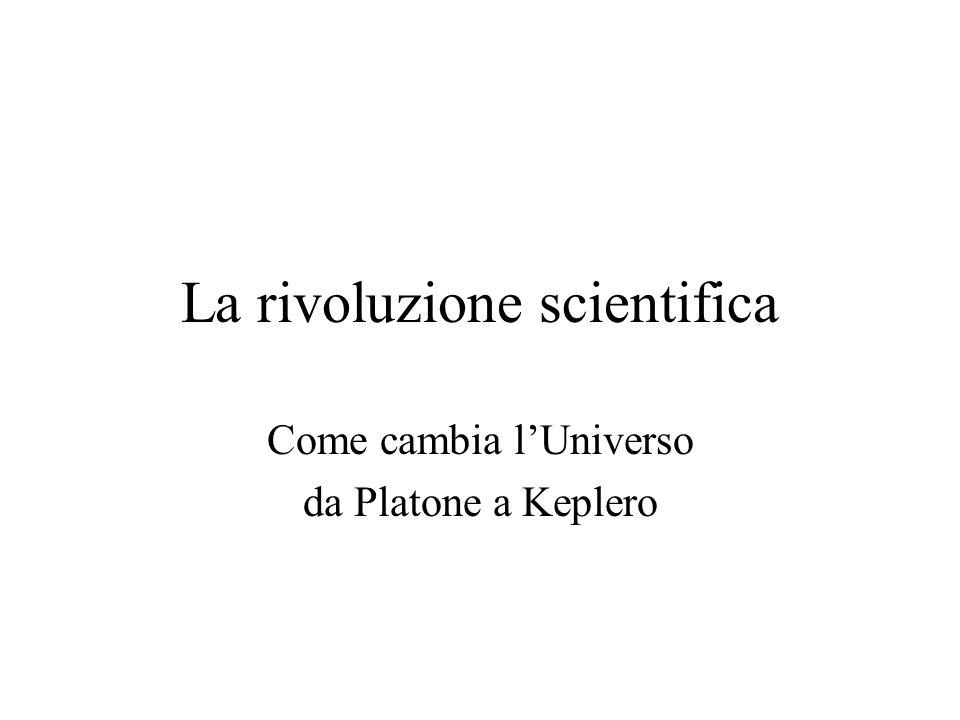 La rivoluzione scientifica Come cambia lUniverso da Platone a Keplero