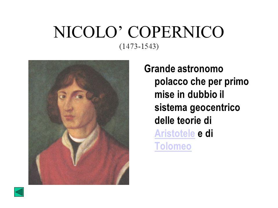 TEORIA COPERNICANA CopernicoCopernico, nel suo de Rivolutionibus Orbium Coelestium, ipotizza che la terra non sia il centro dell'universo, ma che ruot